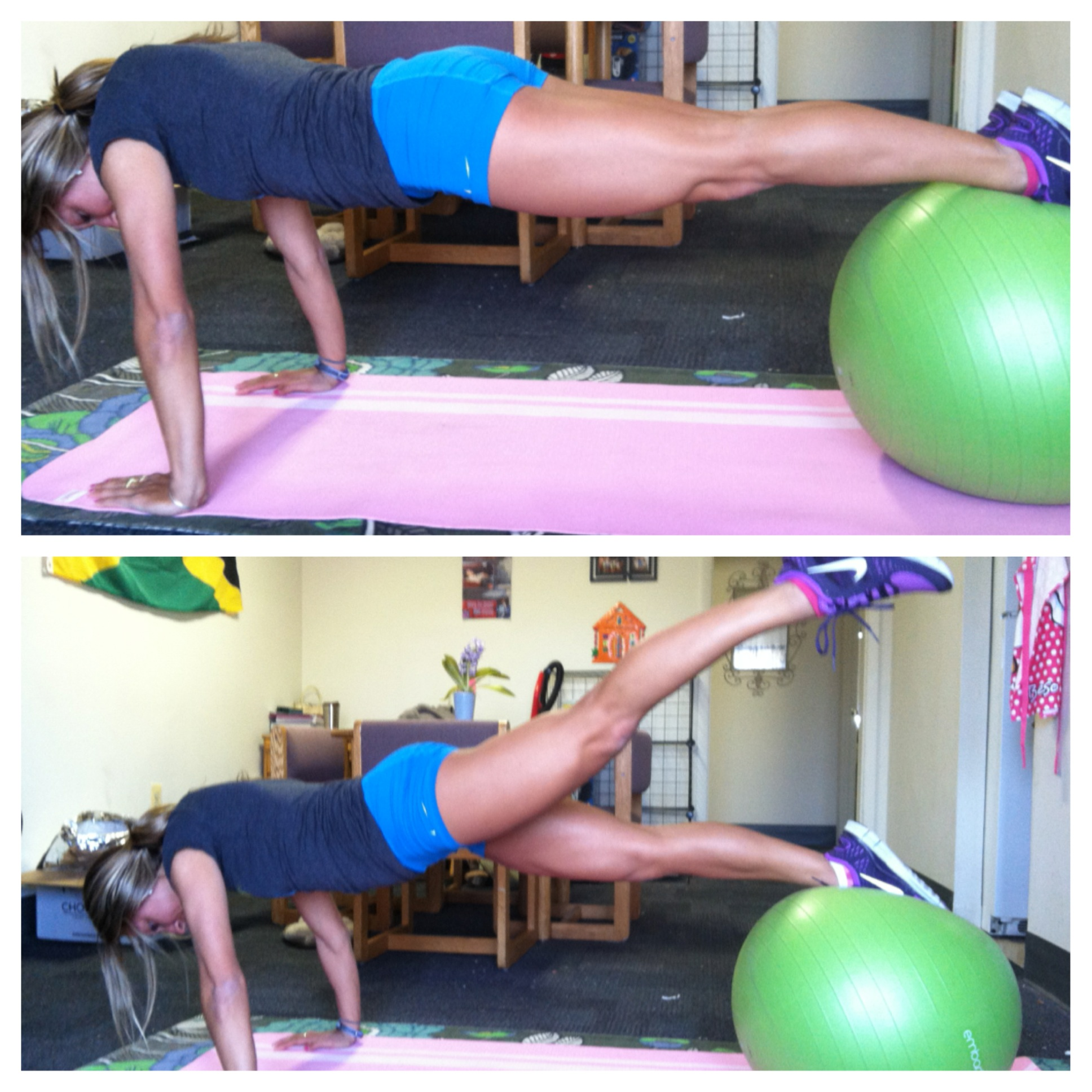 Balance Ball Legs: Make The Stability Ball Your Friend With This Killer Ab